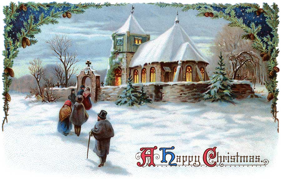 Christmas wallpaper 2012: Vintage Christmas Cards