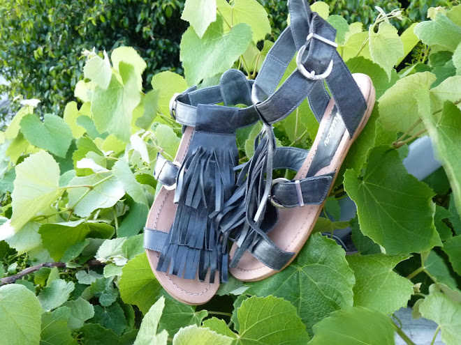 Sandalias de Flecos, Gris Acero - SOLD OUT