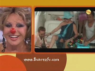 Marujita Diaz desnuda, enseñando felpudo y teta en Salvame Telecinco ...