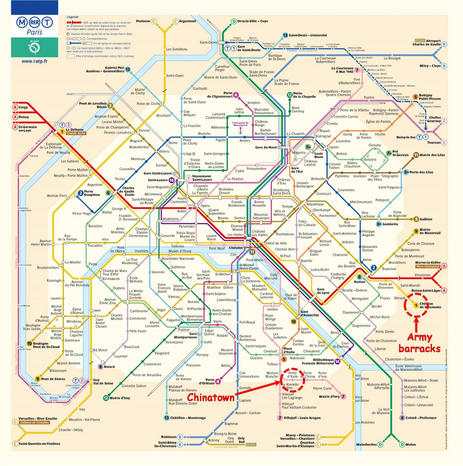 Pz c paris metro for Metro porte d italie