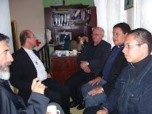 Nuestro Arzobispo con nuestros hermanos Colombianos...