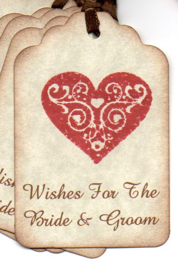 Wedding Wishes For the Bride and Groom to match the Wedding Favor Tags in my