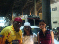 In Chepauk with Shivamani
