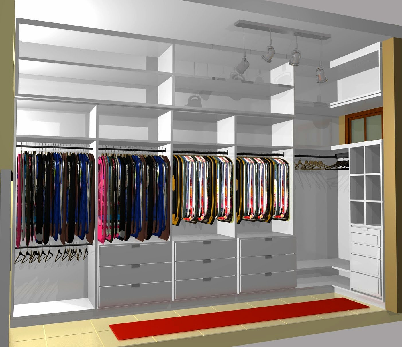 WalkIn Closet Design Ideas