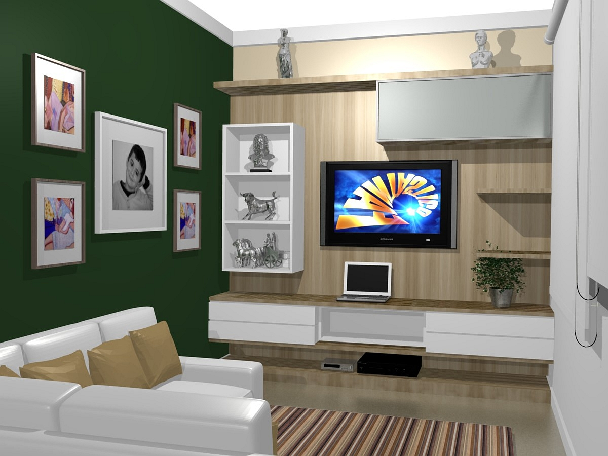 HOME THEATER PAINEL TV LCD LED MODERNO SOB MEDIDA MARCENARIA MOVEIS