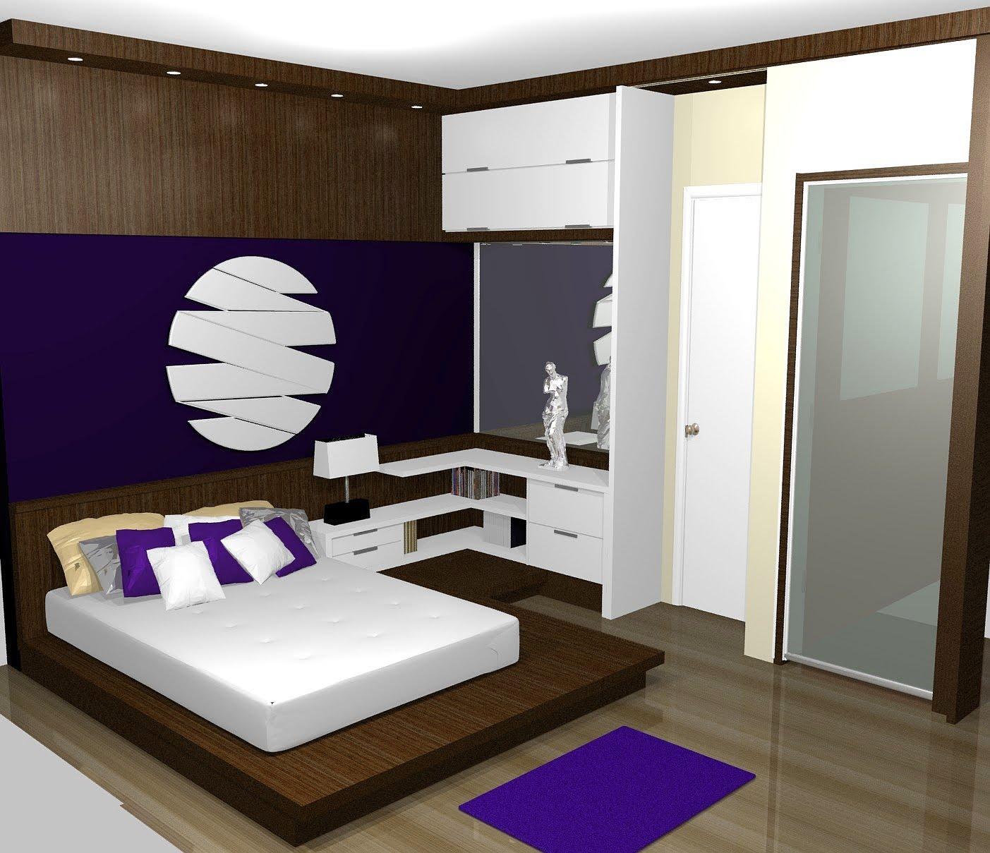 Dormitorio Casal Planejado Quarto Pequeno Redival Com ~ Decoracao Para Quarto Com Painel Mdf Quarto Casal