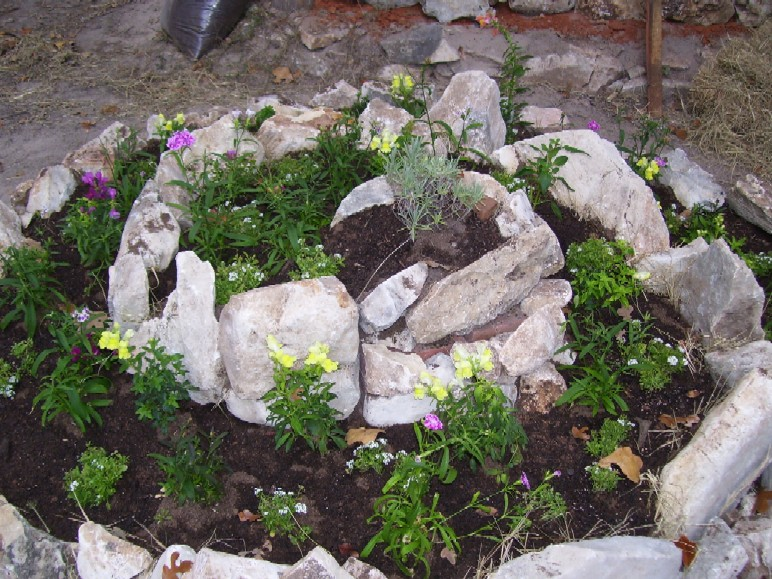 it is! The spiral garden, more specifically used as an herb spiral ...