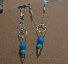 Mommy's Idea Blue Turquoise Two-holes Earring