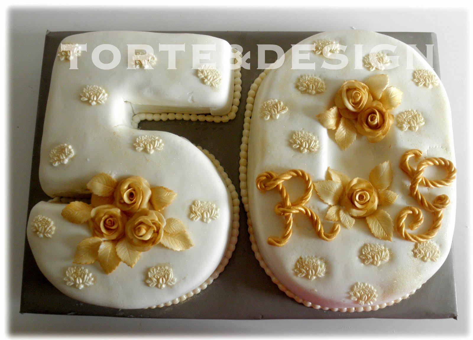Torte design nozze d 39 oro for Decorazioni torte per 60 anni di matrimonio