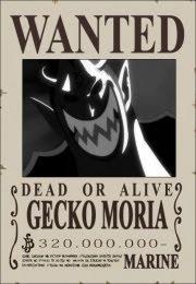 bounty gecko moria schichibukai one piece