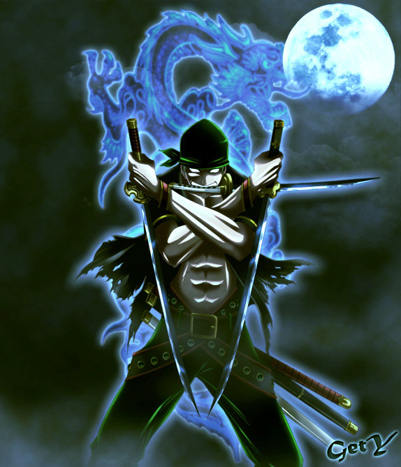 One Piece Zoro Wallpaper: Anime Venus: Roronoa Zoro With Shadow Dragon