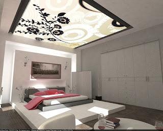 luxury bedroom modren design decoration elegant lighting