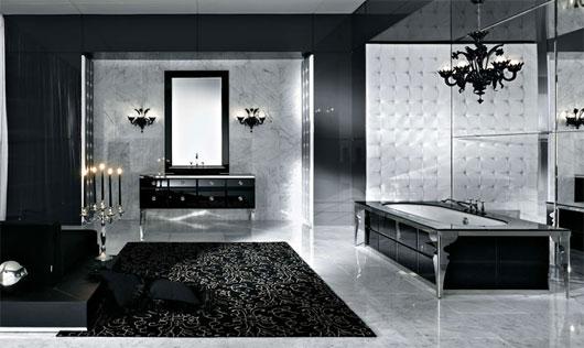 Luxury Bathroom Design With Theme Black Color Home Design Enchanting Bathroom Design Themes