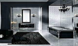 luxury bathroom modern design black color