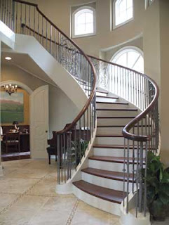 luxury staircase spiral design minimalist decoration interior wooden