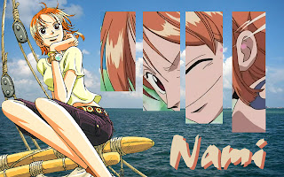 nami buka baju x chan one piece wallpaper