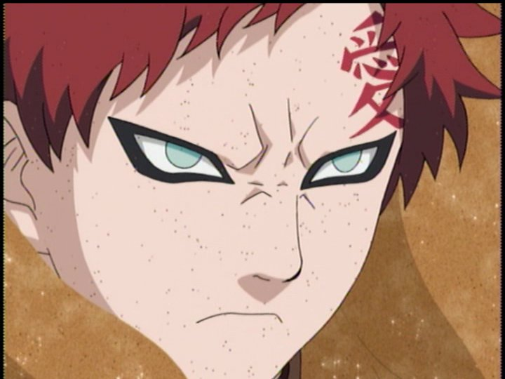 3crazygril face gaara and his kanji quot�quot