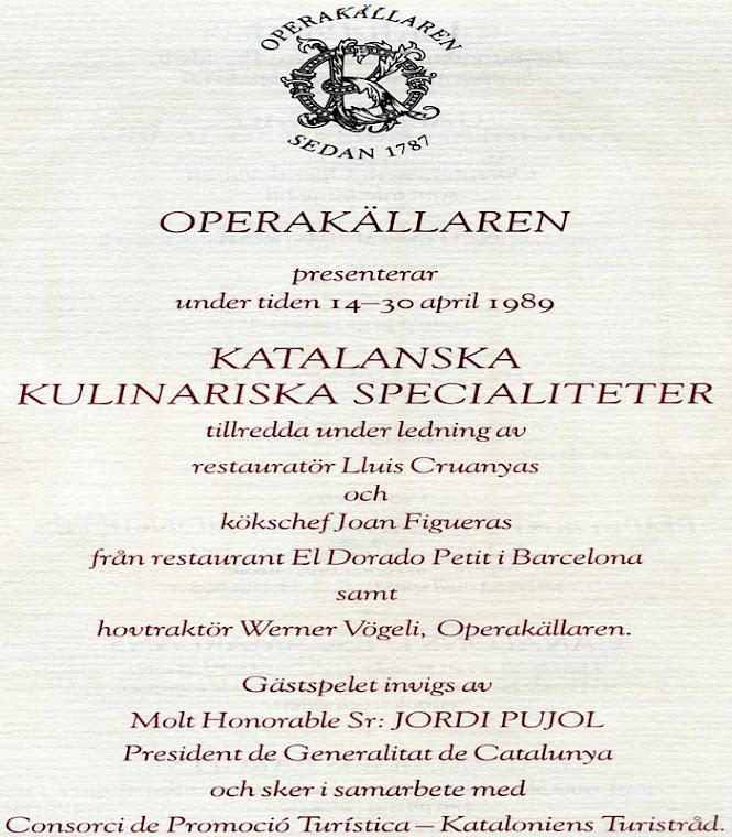 Jairo Narváez  coordinador y diseño visita de Jordi Pujol  Estocolmo 1989