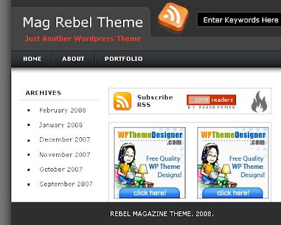 rabel magazine style new blogger template