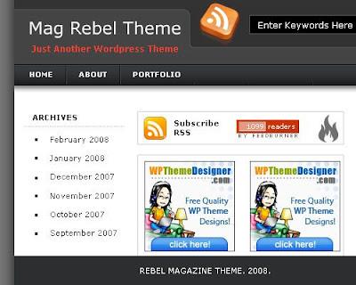 rabel magazine style new blogger template