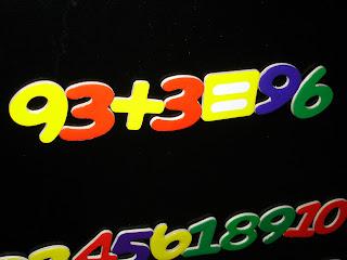 math equation reads 93 plus 3 equals 96