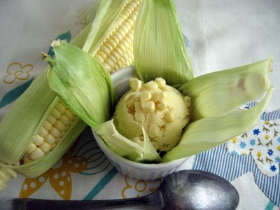 ... : what to do with all the corn? Sweet Corn Ice Cream of course