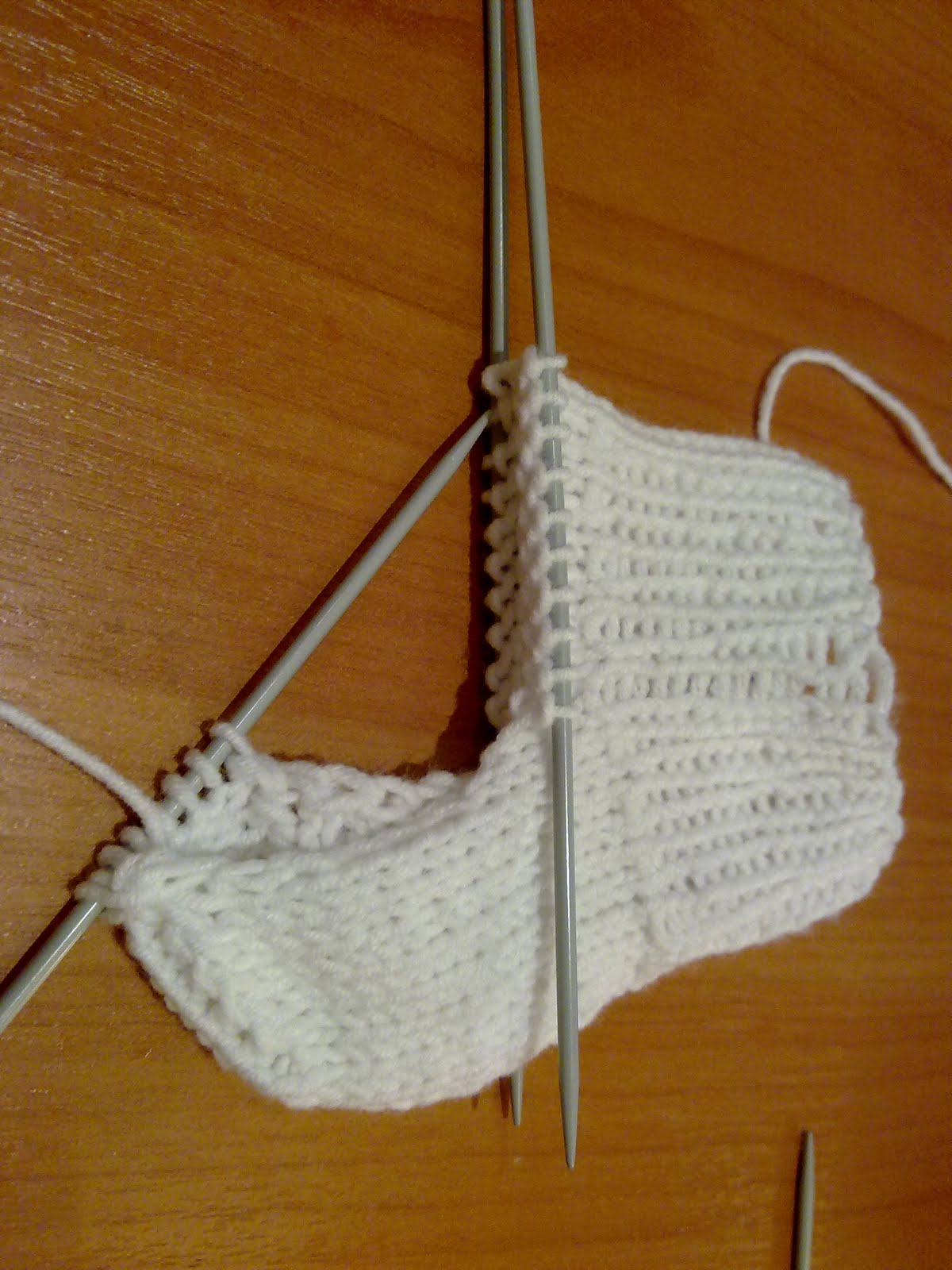 """Как связать носки на 5 спицах для начинающих - Женский сайт """"Порадка&quot 172"""