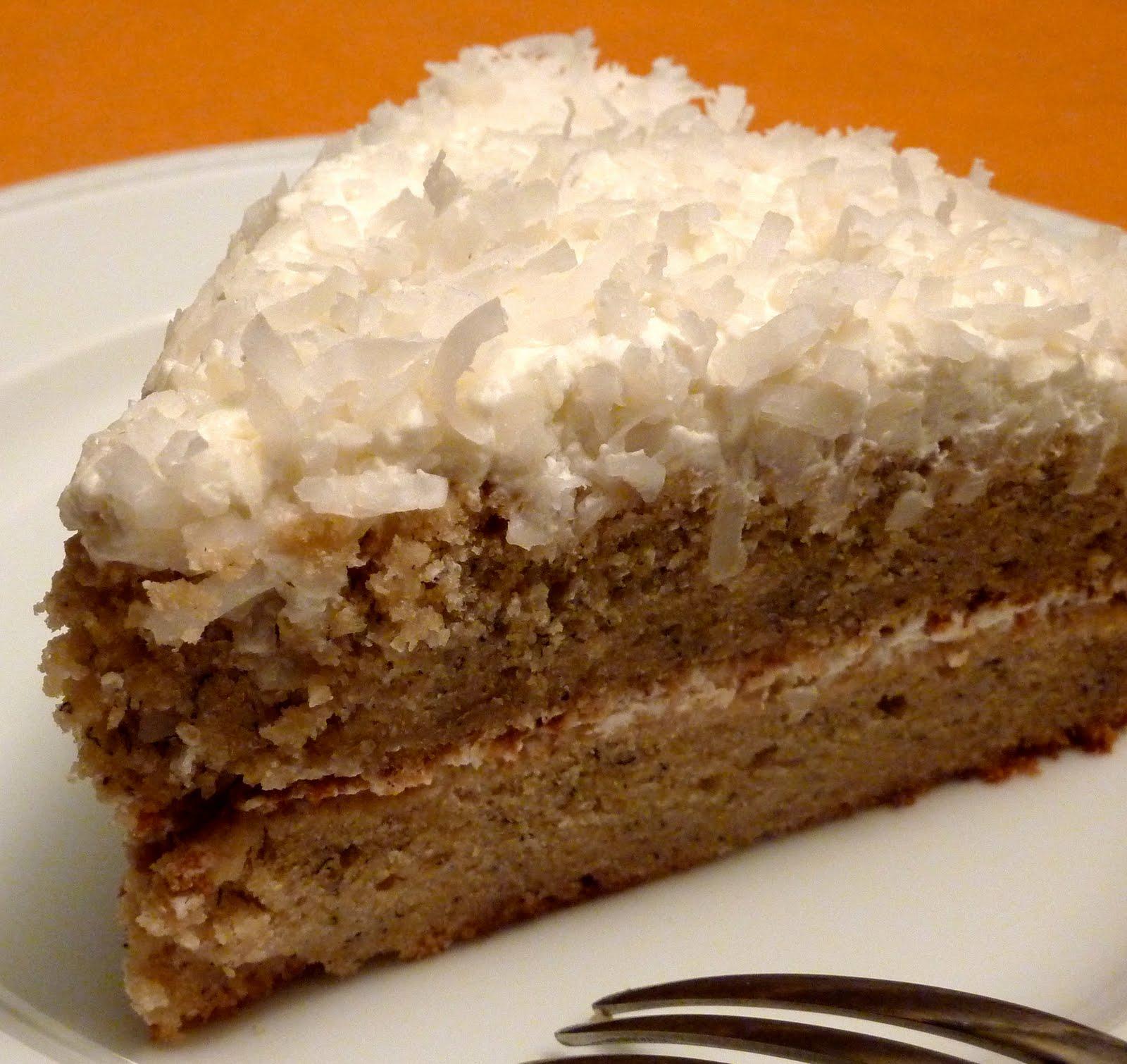 beurrista: banana rum coconut layer cake