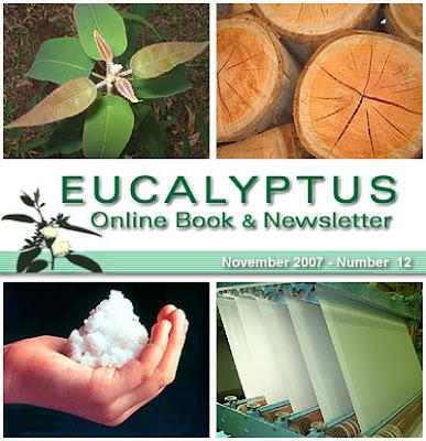 Eucalyptus Online Book and Newsletter, November 2007, by Celso Foelkel / Eucalyptus Wisdom from Brazil / Boletín Online Eucalipto, Noviembre 2007, por Celso Foelkel / Sabiduría eucalíptica desde Brasil
