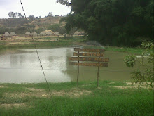 Laguna para pesca de cachamas.
