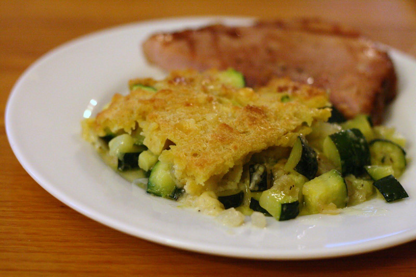 Laine's Recipe Box: Cheesy Zucchini Casserole