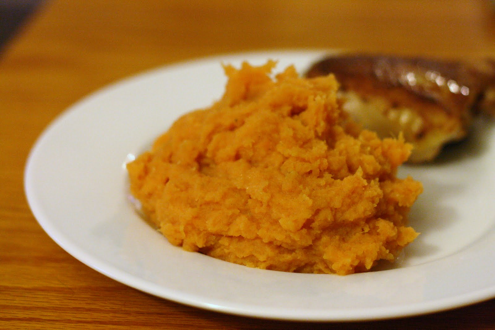 ... mashed sweet potatoes over mashed potatoes if i m making them at home
