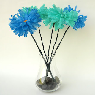 blue eco daisies by ffflowers