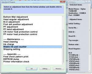 Download the software Resetter Epson TX200 or Adjustment Program Epson ...