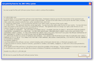 Open Office 2007 Files into Office 2003