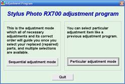 Stylus Photo RX700 Adjustment Program