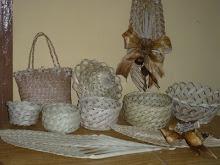 Artesanato em folhas de coqueiro
