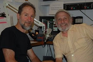 PRODUCER AND HOST MICHAEL POLLITT WITH CO-PRODUCER LANCE SMITH