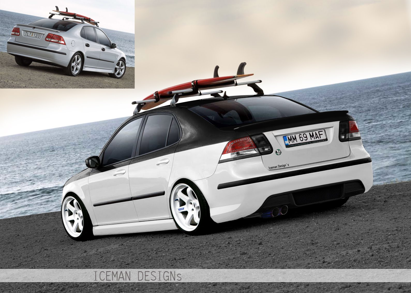 icemangraphics saab 9 3 hawaii tuning by iceman. Black Bedroom Furniture Sets. Home Design Ideas