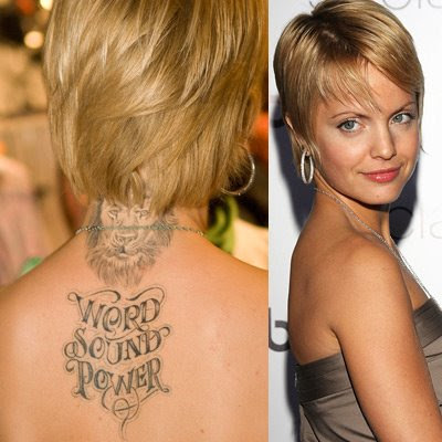 Tattoos and Body Art on Hollywood Celebrities