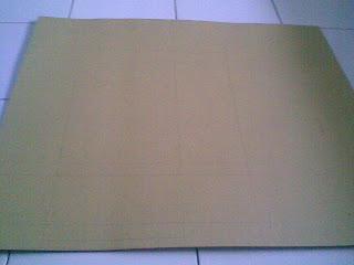 gunting cara membuat 1 pertama membuat pola di kertas karbot sesuai ...