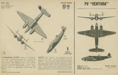 Lockheed Vega Ventura 3-view plans