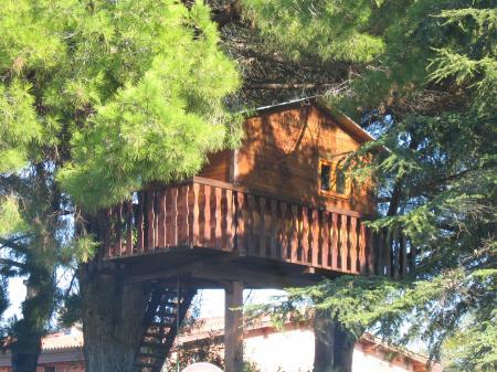 Il giardino sfumato la casa sull 39 albero o cabane perch e o treehouse - La casa sull albero mobili ...