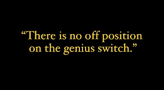 """""""There is no off position on the genius switch."""""""