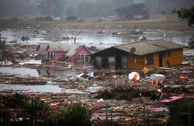 Imagenes del terremoto en Chile