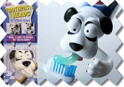 Tapas con forma de animalitos para usar en tu pasta dentífrica