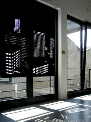 Originales cortinas que te dan la sensación de vivir en una gran ciudad!