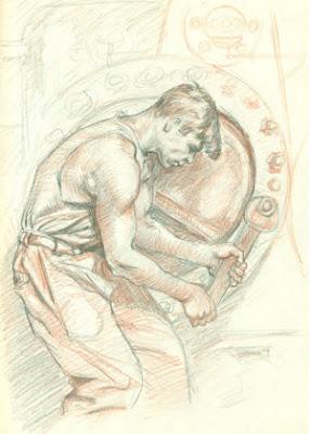 Dibujo de un Trabajador metalúrgico