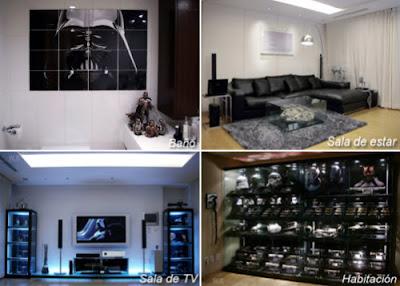 Una increible colección de Star Wars para decorar un departamento genial