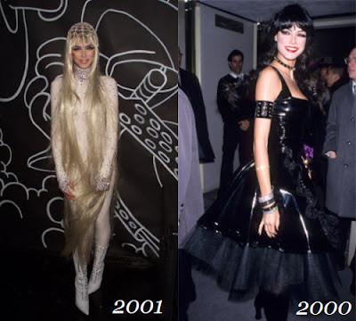 Heidi disfrazada de Lady Godiva y su primera fiesta en el año 2000